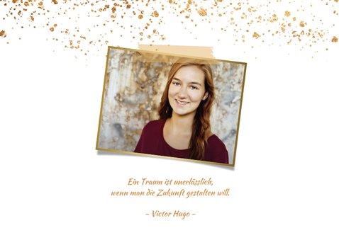 Einladungskarte Jugendweihe Fotos früher und heute 2