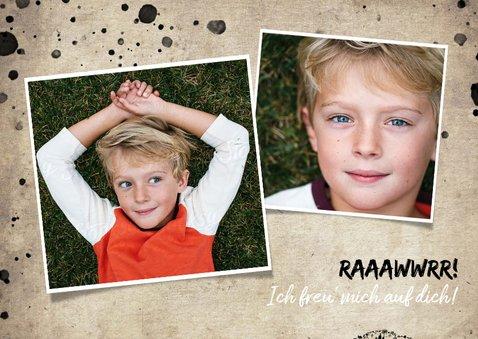 Einladungskarte Kindergeburtstag Löwe & Fotos 2