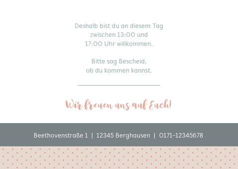 Einladungskarte Kindergeburtstag sanftes Rosé mit Foto 3