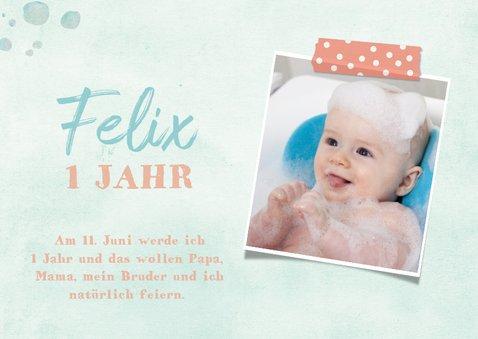 Einladungskarte Kindergeburtstag Schaumbad mit Füchsen 2