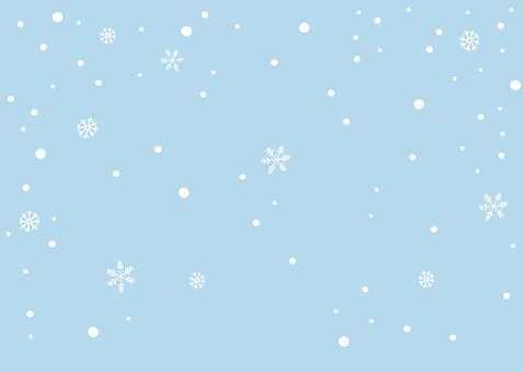 Einladungskarte Kindergeburtstag Schneefuchs Rückseite