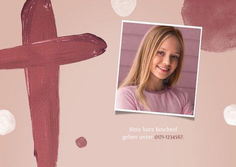 Einladungskarte Konfirmation Foto gemaltes Kreuz 2