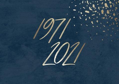 Einladungskarte zum 50. Geburtstag Jahreszahlen & Fotos 2
