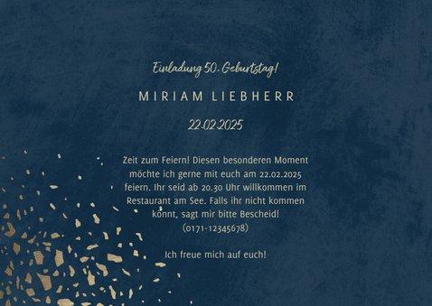 Einladungskarte zum 50. Geburtstag Jahreszahlen & Fotos 3