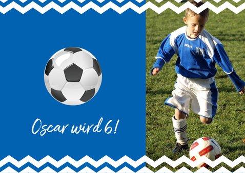 Einladungskarte zum Fußballgeburtstag Junge 2