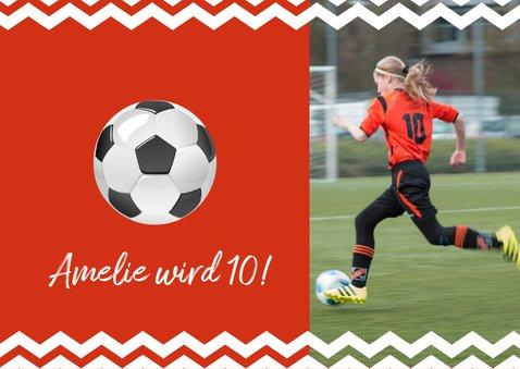Einladungskarte zum Fußballgeburtstag Mädchen 2