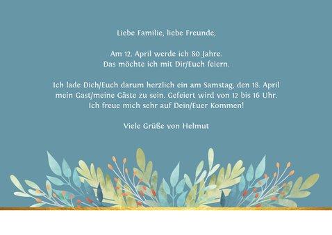 Einladungskarte zum Geburtstag Zweige Aquarell 3