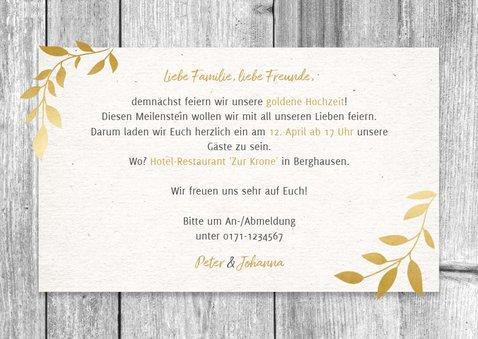 Einladungskarte zum Hochzeitsjubiläum Holz und Fotos 3