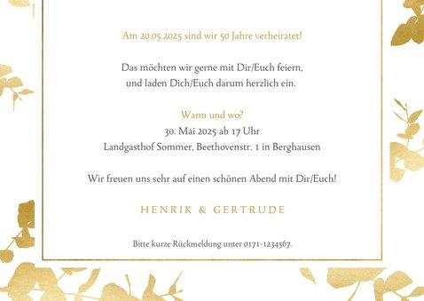 Einladungskarte zum Hochzeitstag mit Fotos 3