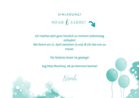 Einladungskarte zum Kindergeburtstag mit Fotocollage 3
