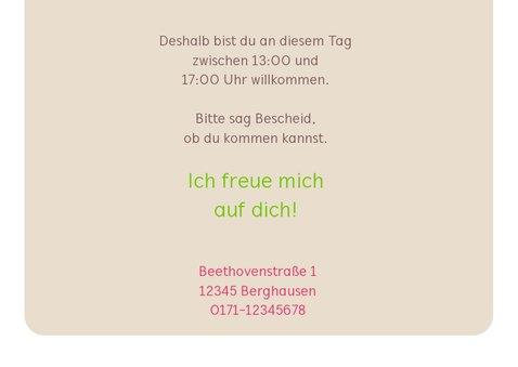 Einladungskarte zum Kindergeburtstag pinke Eule 3