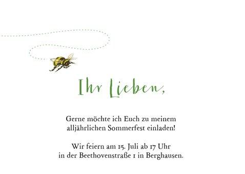 Einladungskarte zum Sommerfest Blumengarten 2