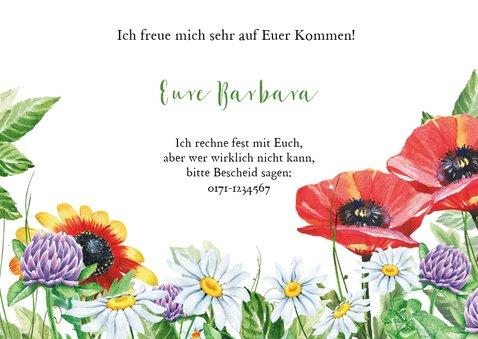 Einladungskarte zum Sommerfest Blumengarten 3