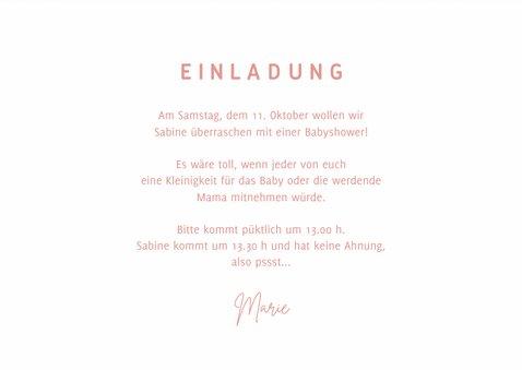 Einladungskarte zur Babyparty rosa 3