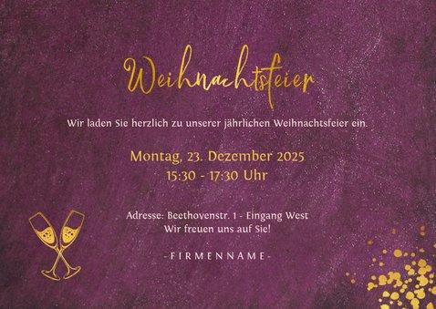 Einladungskarte zur geschäftlichen Weihnachtsfeier 3