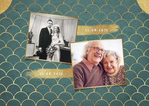 Einladungskarte zur goldenen Hochzeit Goldlook 2