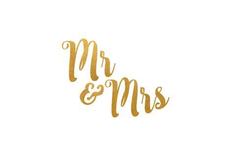 Einladungskarte zur Hochzeit Buchstaben in Goldlook 2
