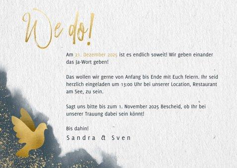 Einladungskarte zur Hochzeit mit eigenem Foto und Timeline 3