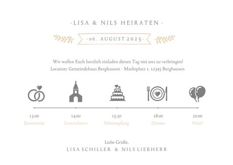 Einladungskarte zur Hochzeit Timeline & Foto 3