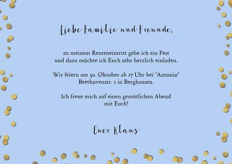 Einladungskarte zur Ruhestand-Party 3