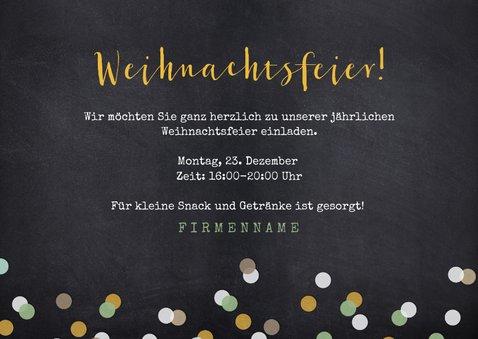 Einladungskarte zur Weihnachtsfeier mit Sektgläsern 3