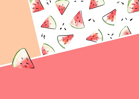 Feest uitnodiging watermeloen 2
