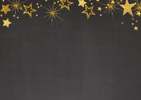 Feestelijke kerst fotokaart gouden sterren L 2