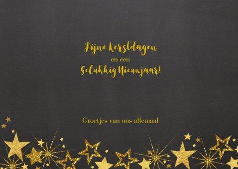Feestelijke kerst fotokaart gouden sterren L 3