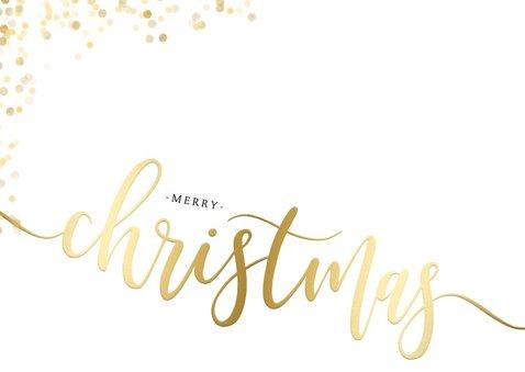 Feestelijke kerstkaart gouden Christmas confetti 2