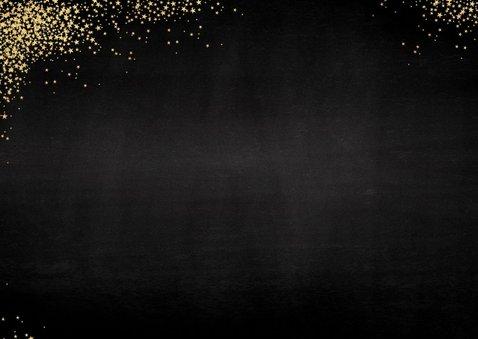 Feestelijke kerstkaart vele gouden sterretjes met foto  2