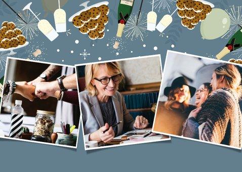 Feestelijke uitnodiging online nieuwjaarsborrel champagne 2