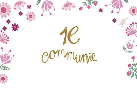 Felicitatie communie roze hart 2