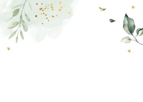 Felicitatie doopsel jongen botanische bladeren groen 2