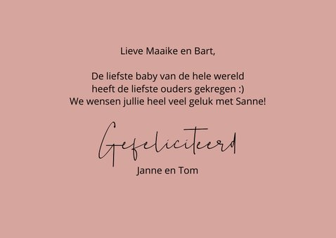 Felicitatie geboorte Zooo lief this says it all 3