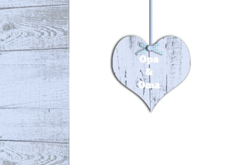 felicitatie kleinzoon slinger met hart 2