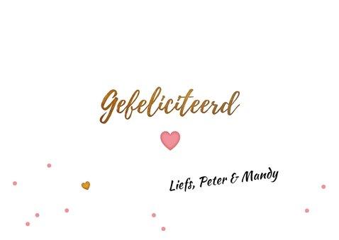 Felicitatie letter kaart baby girl 3