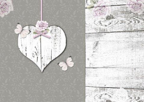 Felicitatie Sara hart en rozen vintage 2