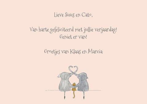 Felicitatie tweeling olifanten meisjes 3