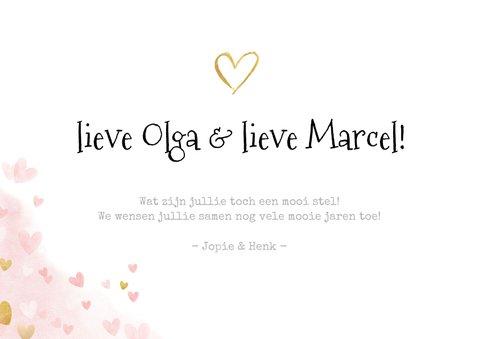 Felicitatiekaart 40 jarig huwelijksjubileum gouden toast  3