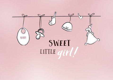 Felicitatiekaart bij de geboorte van een meisje / dochter 2