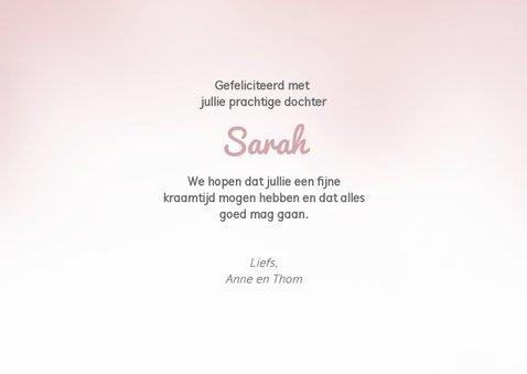 Felicitatiekaart bij de geboorte van een meisje / dochter 3
