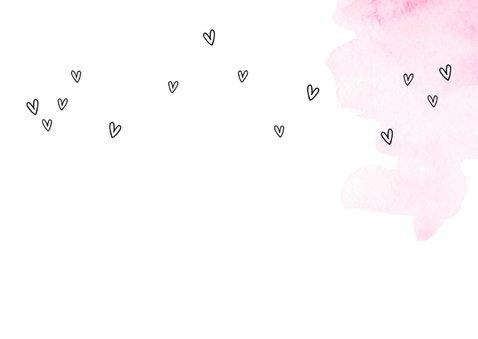Felicitatiekaart een nieuw avontuur roze  2