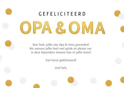 Felicitatiekaart geboorte kleinkind - opa & oma confetti 3