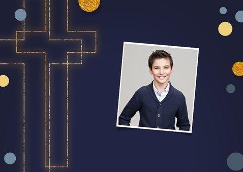 Felicitatiekaart heilige communie christelijk kruis symbool 2