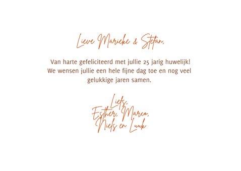 Felicitatiekaart huwelijksjubileum oranje bloemen 3