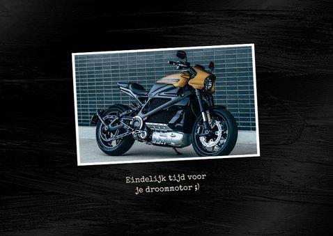 Felicitatiekaart motorrijbewijs stoer motor 2