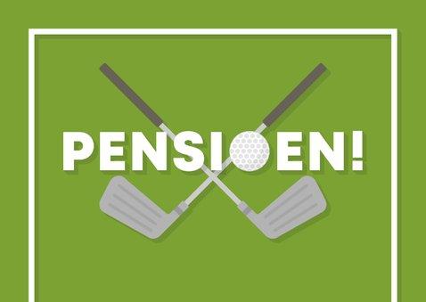 Felicitatiekaart pensioen met golfbal en club 2