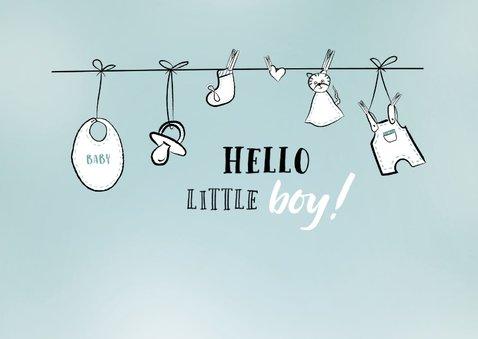 Felicitatiekaart voor bij de geboorte van een jongen / zoon 2