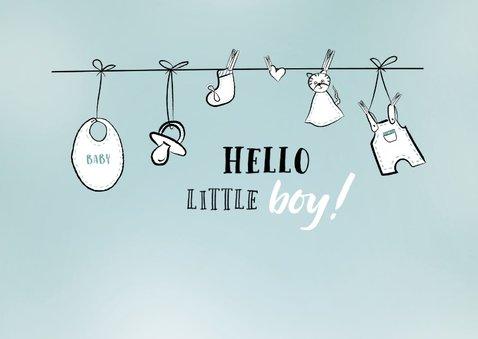 Felicitatiekaart voor bij de geboorte van een jongen 2