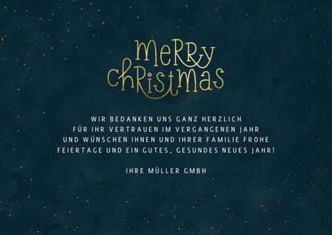 Firmen-Weihnachtskarte Merry Christmas 3